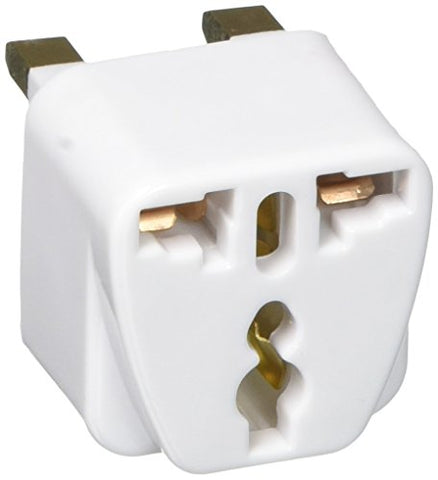 Design Go Uk Grounded Adaptor, White