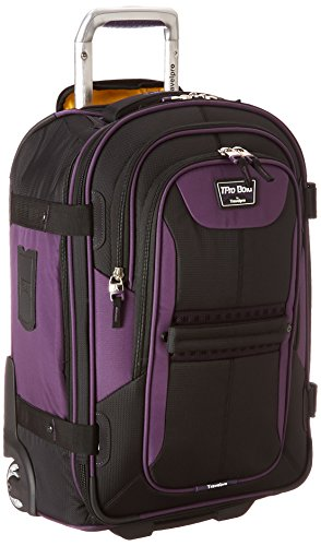Travelpro Tpro Bold 2.0 22 Inch Expandable Rollaboard, Black/Purple, One Size