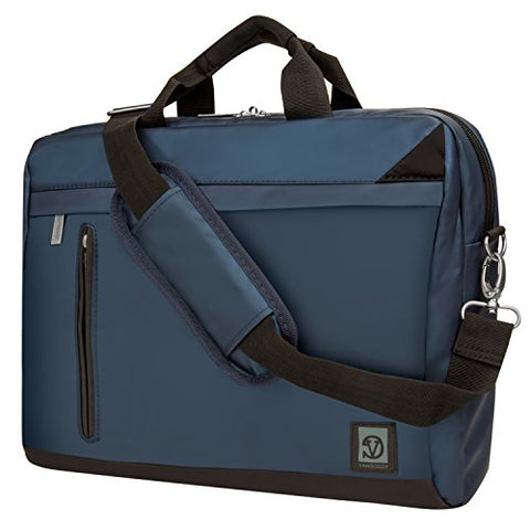 VanGoddy Adler Briefcase Messenger Bag Dell 14 to 15.6-inch Laptops (Blue)
