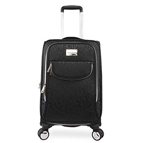 "BEBE Women's Carissa 21"" Expandable Spinner Carry Tossed Black"