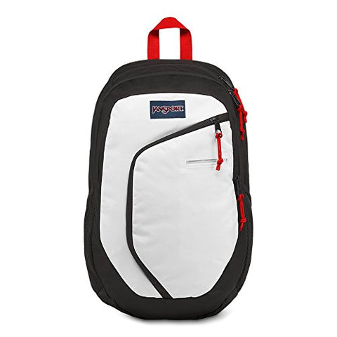 Jansport Interface Laptop Backpack - White/Black/Red Tape