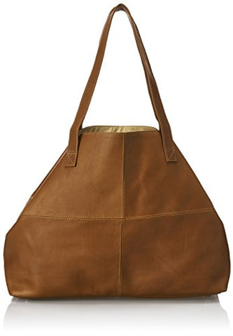 Piel Leather Large Open Multi-Purpose Tote, Saddle, One Size