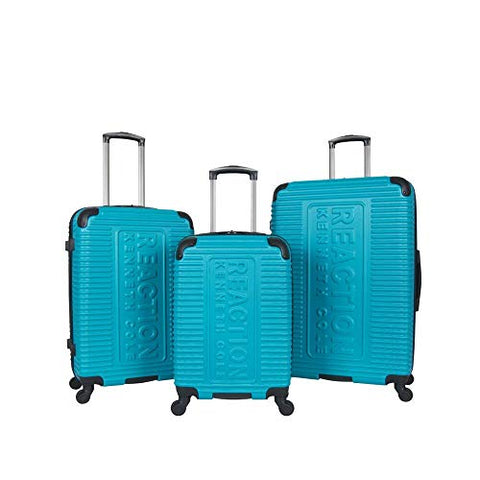 Kenneth Cole Reaction Mechanizer Teal Luggage Set with Carry-On, Checked and Large Case