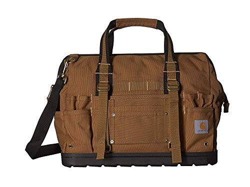 "Carhartt Unisex 18"" Legacy Tool Bag w/Molded Base Carhartt/Brown One Size"