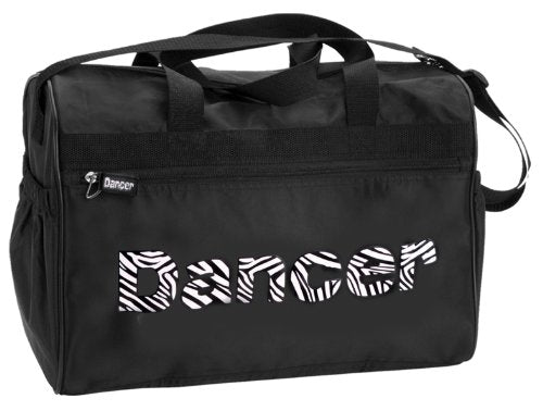 "Dansbagz Zebra ""Dancer"" Duffel Bag One Size Black"