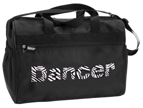 "Dansbagz Zebra""Dancer"" Duffel Bag One Size Black"