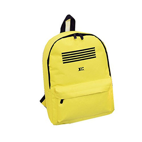 X-HAPPY Nylon Preppy Chic Five-stroke Armband Shoulder Backpack (yellow)