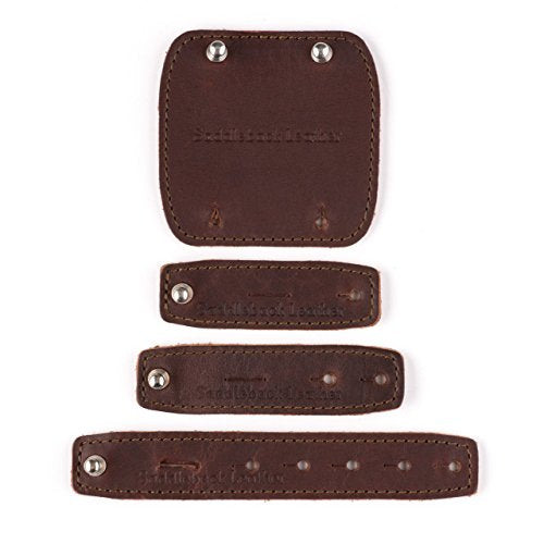Saddleback Leather Cord Wrap Set - 100% Full Grain Leather Cable Management Straps With 100 Year