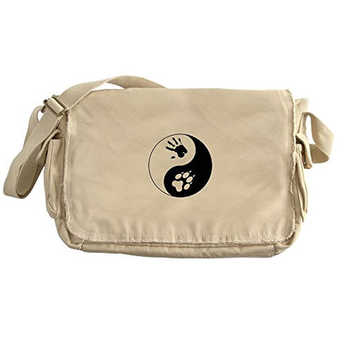 Cafepress - Wolf Therian Ying Yang - Unique Messenger Bag, Canvas Courier Bag