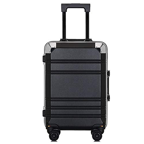 XDD Business Aluminum Frame Trolley Case,Pc Suitcase Universal Wheel 20 Inch Boarding Student Password Lock Luggage,G