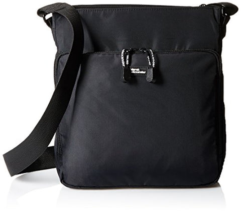 Derek Alexander Top Bucket Bag With Front Zip Organizer, Black