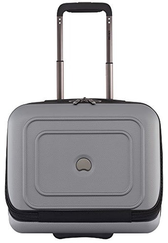 Delsey Luggage Cruise Lite Hardside 2 Wheel Underseater with Front Pocket, Platinum