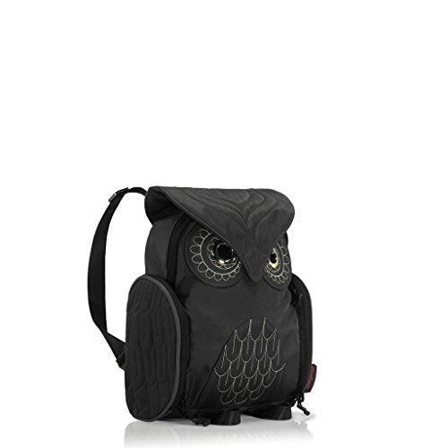 Darling's Owl Water Resistant Lightweight Backpack - Small - Black