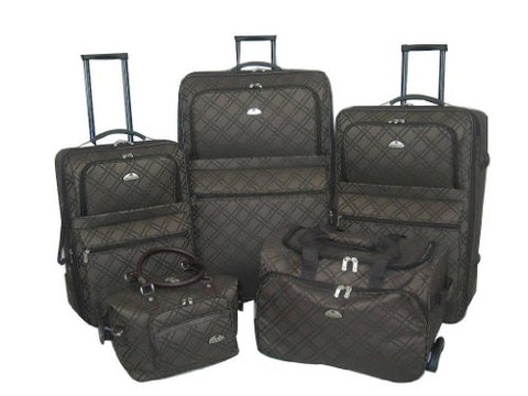 American Flyer Luggage Pemberly Buckles 5 Piece Set, One Size