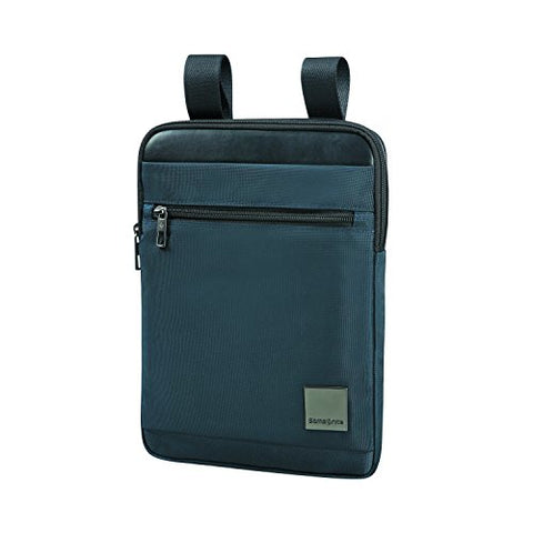 "Samsonite Hip-Square - Tablet Cross-Over L 9.7"" Messenger Bag, 29 Cm, 3.5 Liters, Blue (Dark Blue)"