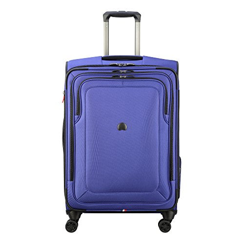 "Delsey Luggage Cruise Lite Softside 25"" Exp. Spinner Suiter Trolley, Blue"