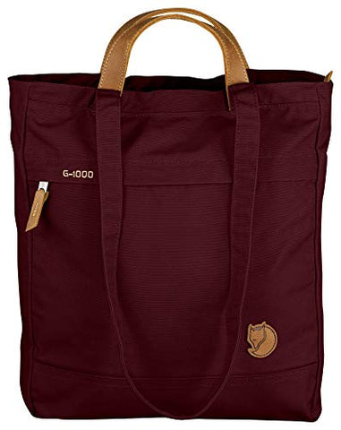Fjallraven Totepack No.1 Unisex Medium Garnet Waxed Fabric Tote Bag 24203356