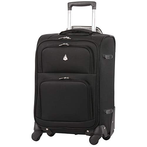 Large Capacity Maximum Allowance 22x14x9 Airline Approved Delta United Southwest Carry On Spinner Luggage Cabin Bag | Rolling Travel Suitcase Lightweight Soft Shell Trolley | 19.5x14x9in Body Size