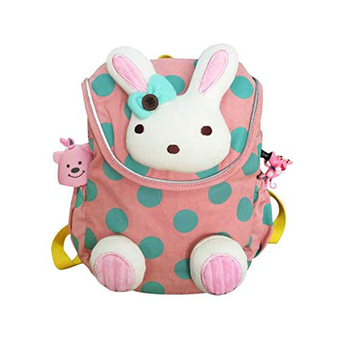 labebe - Toddler Travel Backpack, Small Backpack for Girls, Kid/Baby Snack Bag, Cute/Kawaii Rucksack, Knapsack with Anti-Lost Leash, Pink Bunny Mini Bag, Stuffed Animal Rucksack with Harness for child