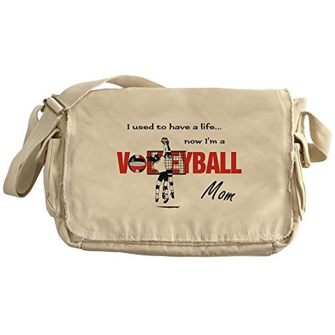 Cafepress - Volleyball Mom - Unique Messenger Bag, Canvas Courier Bag