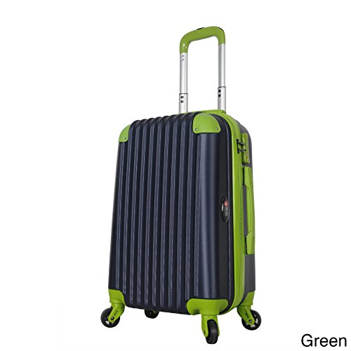 BRIO Luggage 22-inch Hardside Carry On Suitcase with Spinner Wheels Green