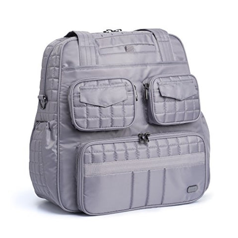 Lug Puddle Jumper Overnight / Gym Bag, Pearl Grey