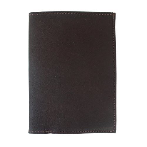Piel Leather Passport Cover, Chocolate, One Size