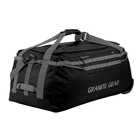 "Granite Gear 36"" Wheeled Packable Duffel - Black/Flint"