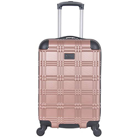 "Ben Sherman Nottingham 20"" Lightweight Durable Hardside 4-Wheel Spinner Carry-On Luggage,"