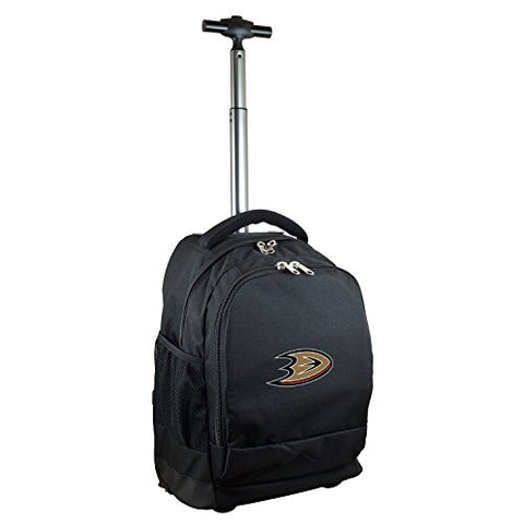 Nhl Anaheim Ducks Expedition Wheeled Backpack, 19-Inches, Black