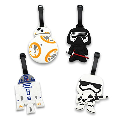 Finex Set of 4 Star Wars BB-8 Travel Luggage ID Tag Bag Suitcase BB8