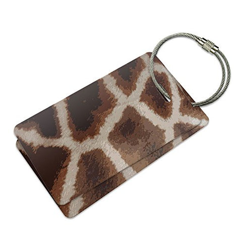 Giraffe Print Impressions Suitcase Bag Id Luggage Tag Set