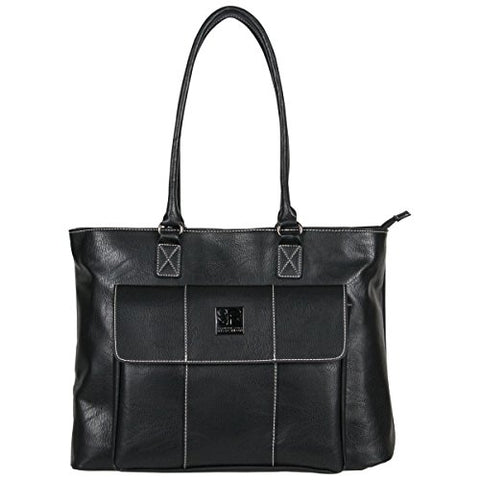 Kenneth Cole Reaction Women's Casual Fling Ladies Tote Laptop, Black