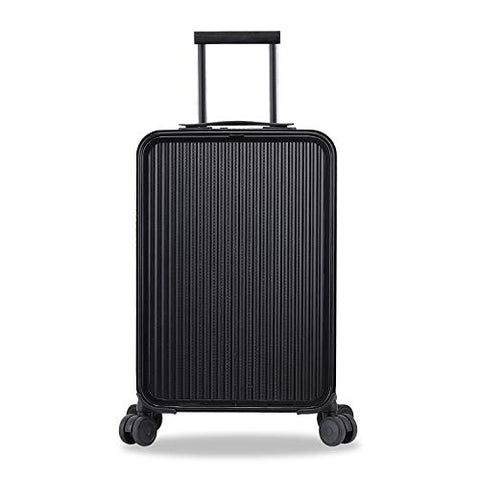 Carry On Luggage, All Aluminum Hard Shell Carry On With Tsa Lock Spinner Wheels (Weave Texture