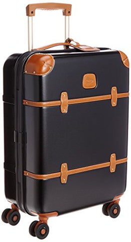 Bric'S Luggage Bellagio Ultra-Light 21 Inch Carry On Spinner Trunk (One Size, Black / Cognac)