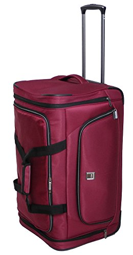 "Titan Nonstop Rolling Luggage Wheeled 27"" Inches Duffel Travelbag (Red)"