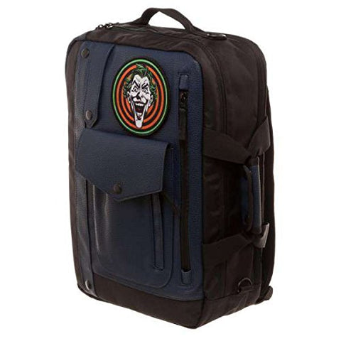 Official Dc Comics Batman'S Joker Goon Convertible Backpack Messenger Bag