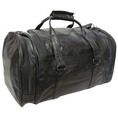 "Amerileather Leather 20 In. ""U"" Shaped Duffel (Black)"