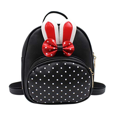 Aibearty Women Girls Small Backpack with Bowknot Ears Mini Kids Satchel Shoulder Bag