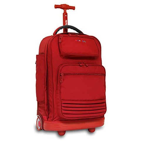 J World New York Women'S Parkway Rolling Backpack, Red One Size