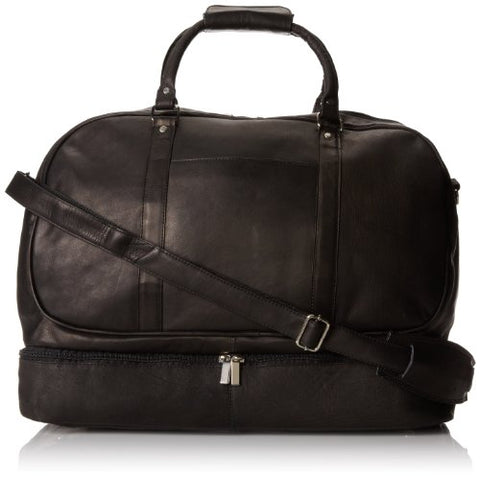 David King & Co. Duffel With Bottom Compartment, Black, One Size