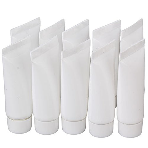BQLZR 5ml White Soft Plastic Empty Tube Makeup Cosmetic Cream Lotion Containers Pack of 10