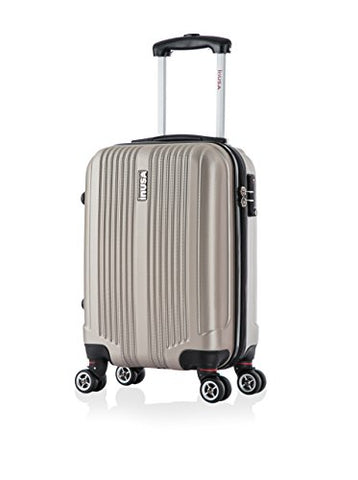 Inusa San Francisco 18-Inch Carry-On Lightweight Hardside Spinner Suitcase - Champagne