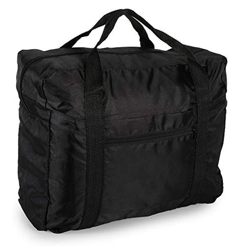 Lightweight Travel Weekender Duffle Bag for Carry On Luggage, Vacation, Sports, Yoga, Gym, and Storage - Black