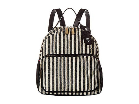 Tommy Hilfiger Women's Julia Dome Backpack Black/Natural One Size
