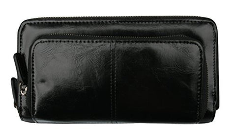 Shiraleah Harper Zip Wallet, Black