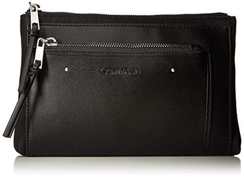 Calvin Klein Lane Nylon Key Item Belt Bag Fanny Pack, black/silver
