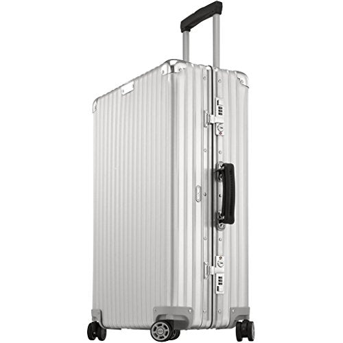 "Rimowa Classic Flight IATA Luggage 32"" inch Cabin Multiwheel Silver White"