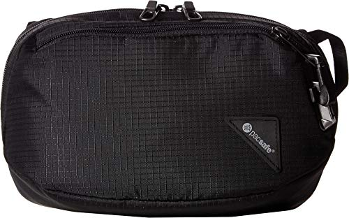 PacSafe Vibe 100-4 Liter Anti Theft Fanny Pack, Fits 7 Inch Tablet, Jet Black Waist, One Size