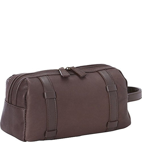 Goodhope Bags Oxford Leather Toiletry Case, Brown